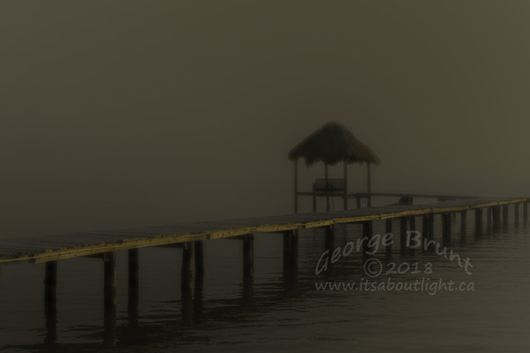Dock in the haze, by George Brunt. ID 2CQ1523 rev 1c