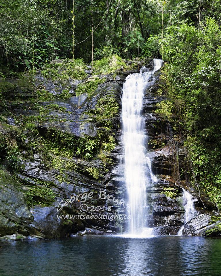 Upper falls, La Milpa, by George Brunt. ID 2cq0755-62 rev 1d