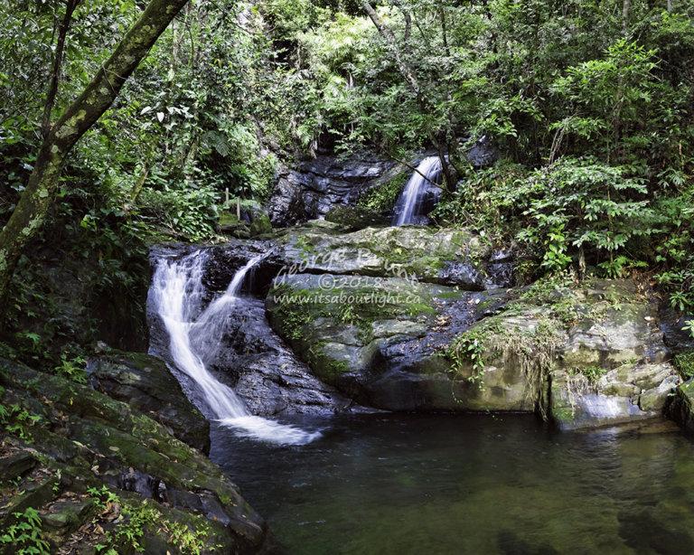 Lower falls, La Milpa, by George Brunt. ID 2cq0777-784 rev 1c