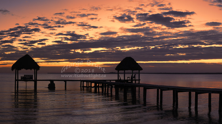 Sunrise over the jetty, by George Brunt. ID 2cq1552-55 rev 1b.
