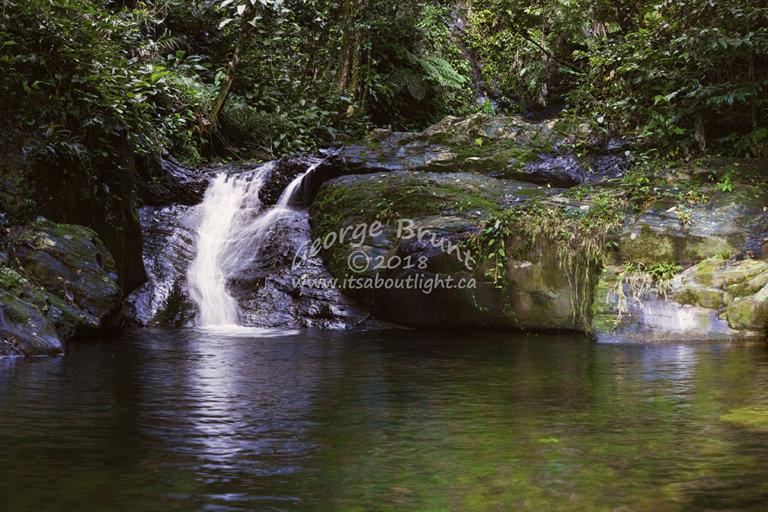 Lower falls, La Milpa, by George Brunt. ID 2cq803-808 rev 1d