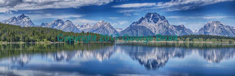 Grand Teton Range, Mount Moran in Front. By George Brunt. ID 8gb9874-79